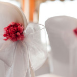 Stylish Seating Chair Covers and Sashes. Photograph © Hemma Mason Photography.