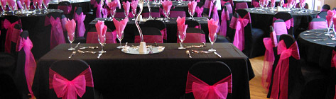 Chair covers for evening parties