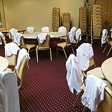 Standard furniture before fitting Chair Covers or Sashes.
