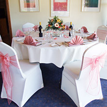 After Stylish Seating have fitted Chair Covers and Sashes.